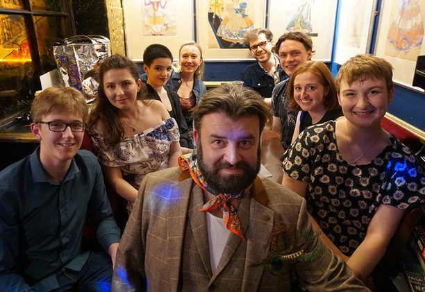 LAMDA students with Ben Cox (far left) and Tim McArthur (front)