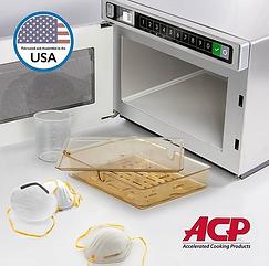 Amana Microwave Generated Steam Sanitati