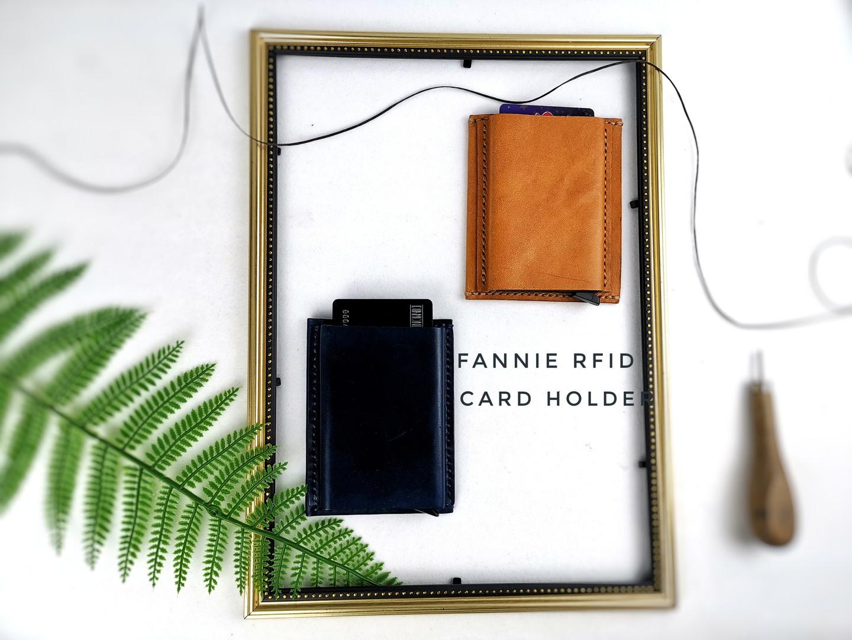 RFID 皮革卡片套