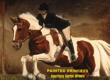 Large Oil painting equine portrait by artist BETS