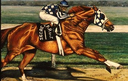 SECRETARIAT MAKING HIS MOVE