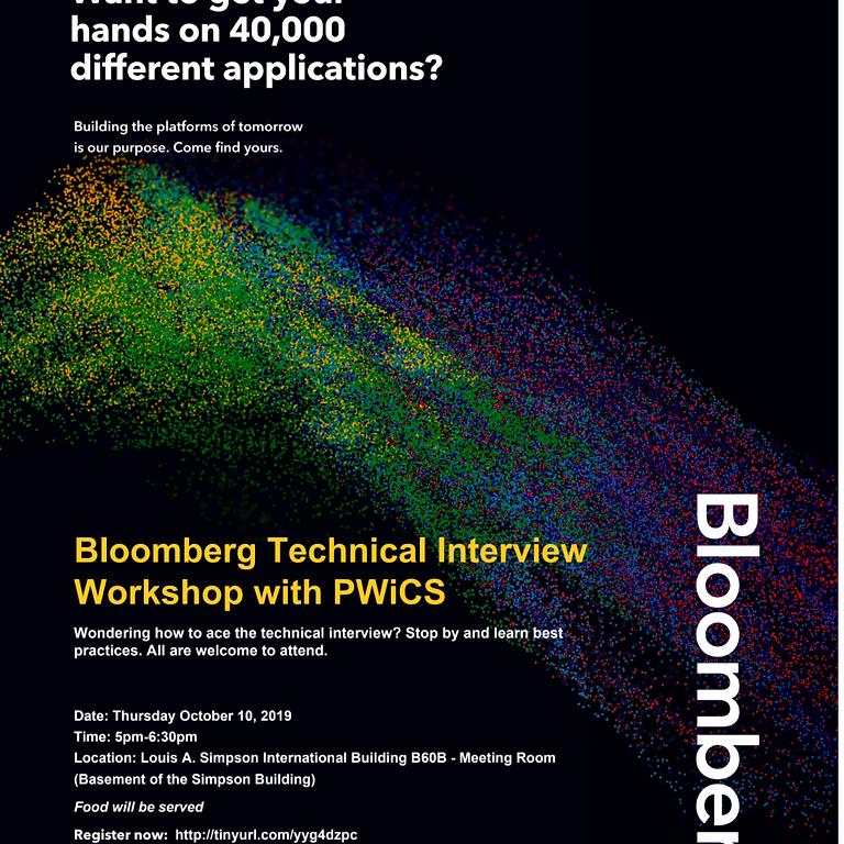 Bloomberg Technical Interview Workshop