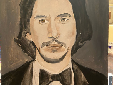 Underpainting and Mixing Skin Tones with Adam Driver ;)
