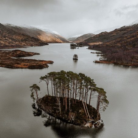 The Scottish Highlands from Above