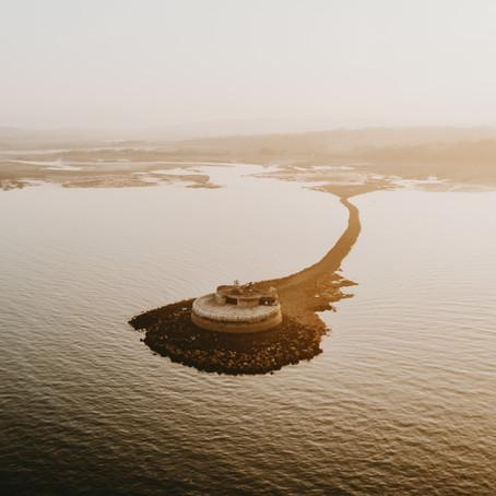 St Helens Fort at low tide