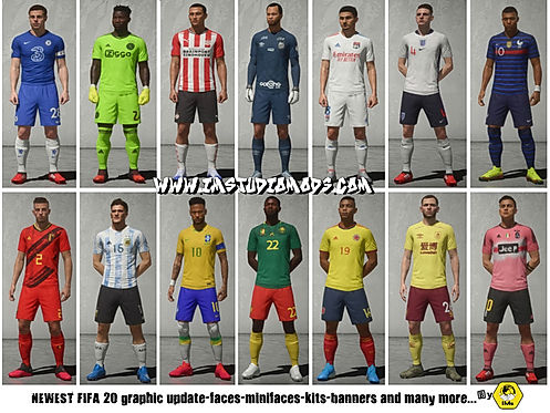 FIFA 20-patch faces and graphic-IMstudio