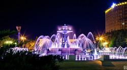 The fountain on Theatre Square