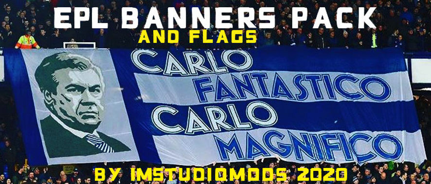 England Premier league-banners and flags