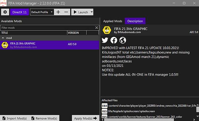 Edition tool FIFA 21-FIFAmanager-IMstudi