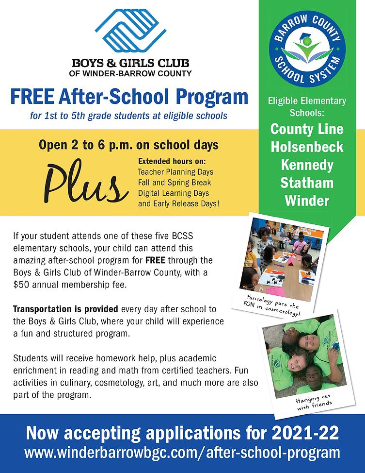 Elementary after-school program Boys & Girls Club of Winder-Barrow County