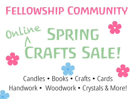 Online Spring Crafts Sale: April 17 to 25th!