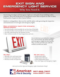 Exit Sign & Emergency Light Service