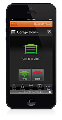 Remote Garage Door Control, Interactive Security