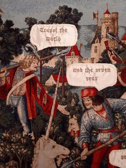 Hunt of the unicorn No5 (fragment)