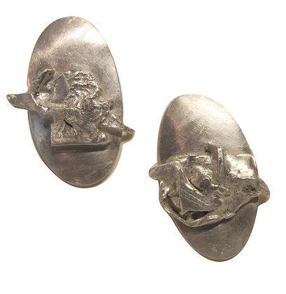 Silver Sculptural Earrings