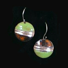 Split image earrings