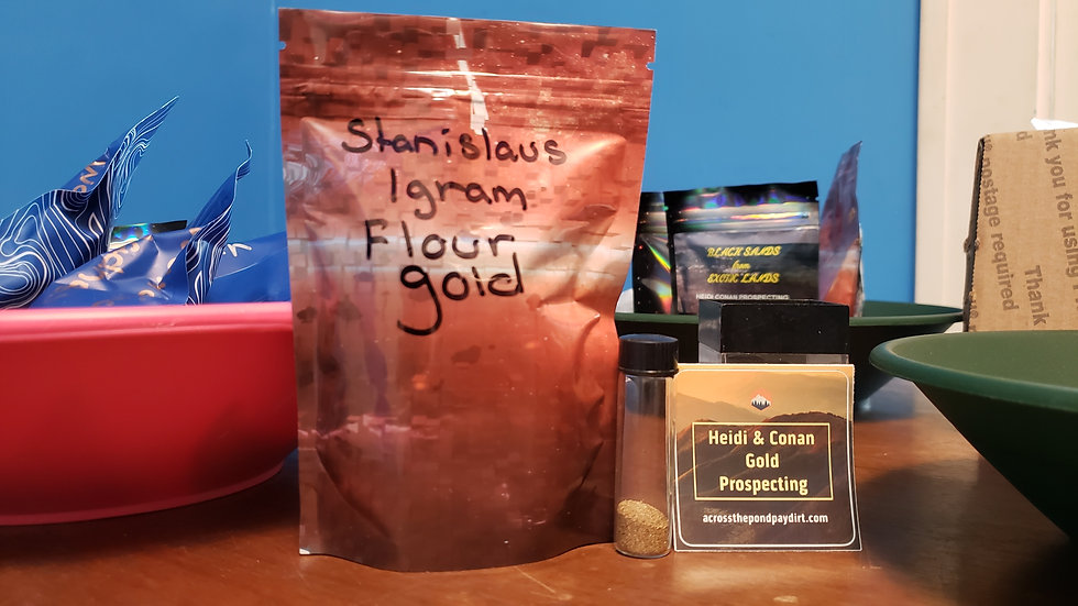 Stanislaus River Flour Gold Paydirt