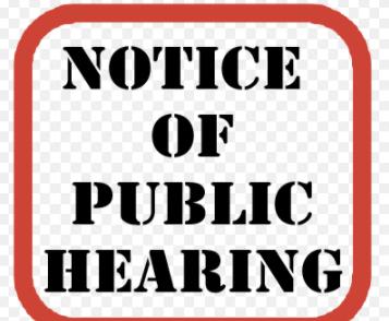 Public Hearing Tonight