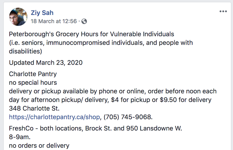 Up-to-date Grocery Information