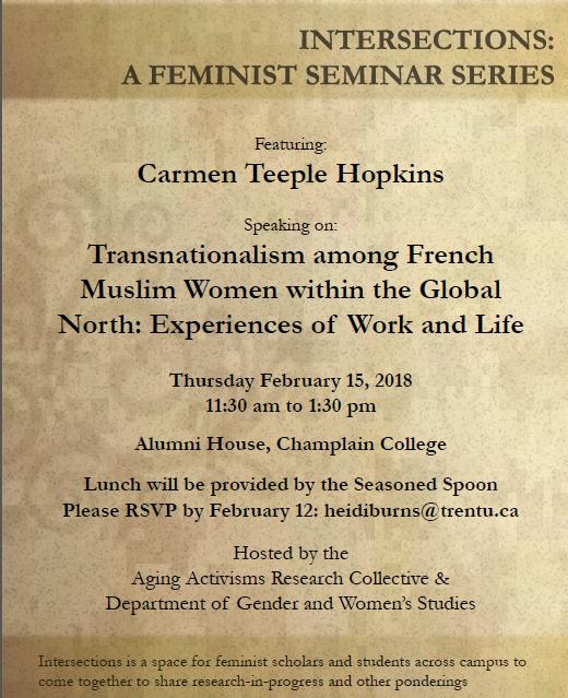 "Thursday February 15 @ 11:30am | Intersections talk with Carmen Teeple Hopkins, ""Transnationali"