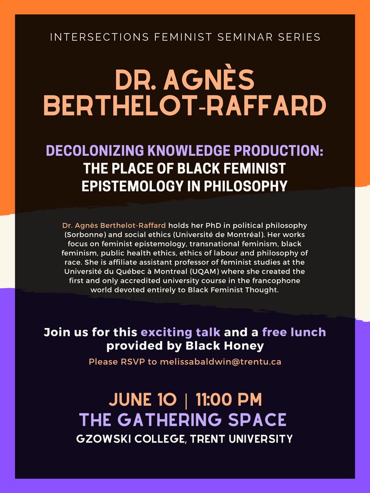 Dr. Agnès Berthelot-Raffard, Intersections Seminar Series | June 10th @ 11:30pm