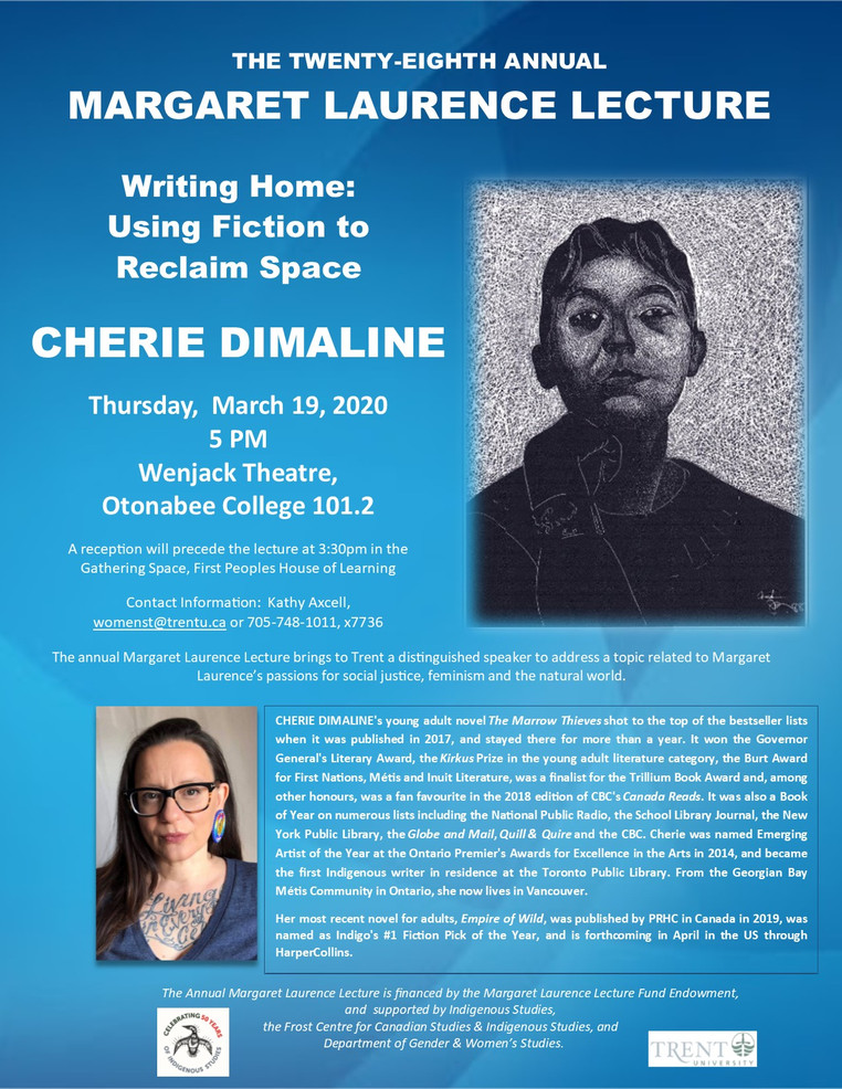 Cherie Dimaline: 28th annual Margaret Laurence Lecture | TBA