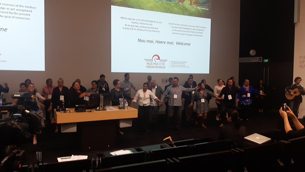 Image of the International Indigenous Research Conference Attendees