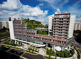 Kampung Admiralty (KA), designed by WOHA architects, is an integration of housing, food, shopping, healthcare and educational facilities in one building with a community farm, roof gardens, vertical greens, park, and a stream with aquatic vegetation. It won the World Building of the Year 2018 award for successfully addressing healthcare, social housing provision and commercial space for the benefit of the public realm. These universal needs were all done while incorporating greenery amounting to more than 100% of its footprint, generating lush biodiversity on the site. The jury felt that the project served as a learning model for cities and countries around the world.