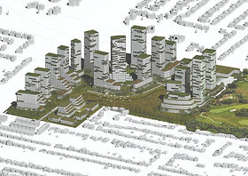 The Dixie Mall project is a redesigned development of Dixie Mall in Mississauga, Ontario, Canada with a vision to revitalise the site from greyscape to a mixed-used community with new parks, retail and residential housing.   Together with Biomimicry Frontiers and Urban Equation, we  were tasked to create an 'Access to Nature' story for the development that was presented to the Mississauga city council.