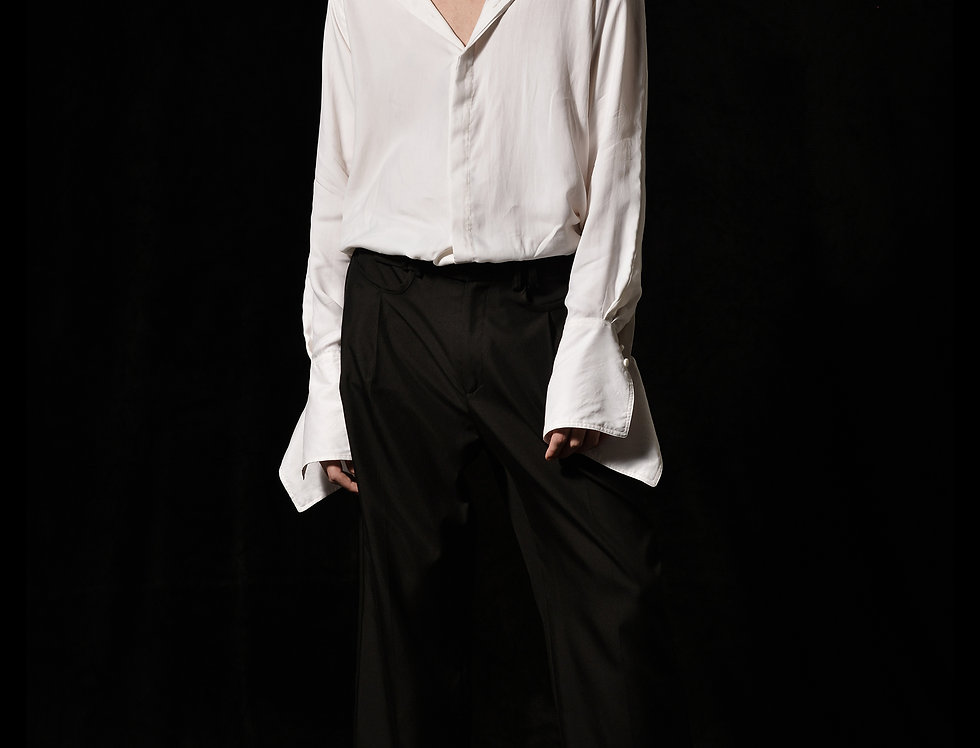 raglan silk shirt