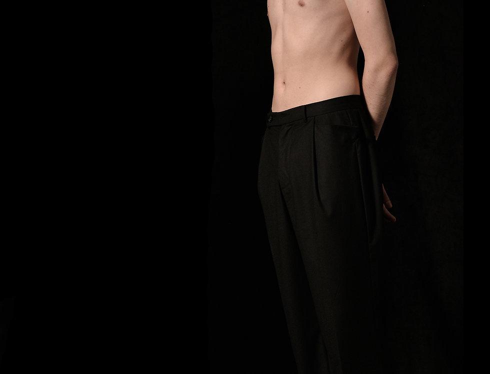 draped pocket pants