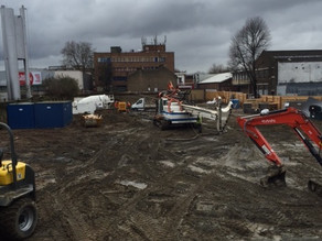 Piling complete at Sylvan Grove
