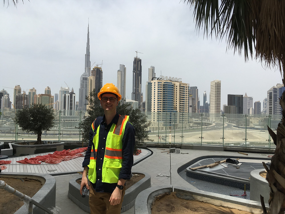 To end two years of studying at Kingston and completing his final piece of coursework, Bradley and 30 other students headed to Dubai to see for ourselves what construction is like in the World's most rapidly growing city.