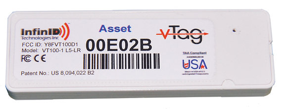 V-Tag Slim Asset Tag, 1-Yr Battery (TAA)