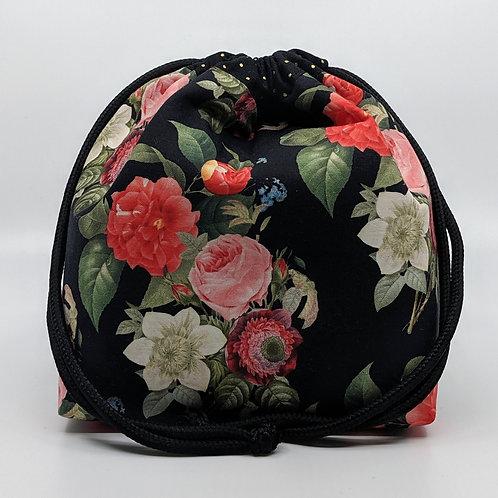 Classic Drawstring Pouch - Night Blossom