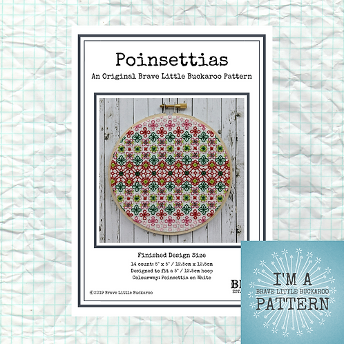 Poinsettias DIY PDF Pattern