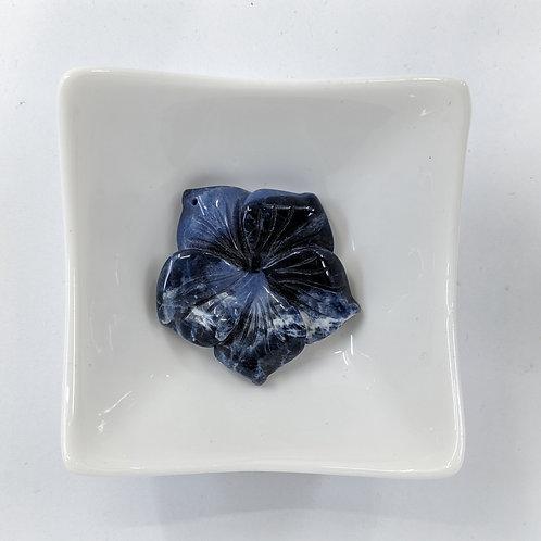 Blue Gemstone - Flower - 45mm
