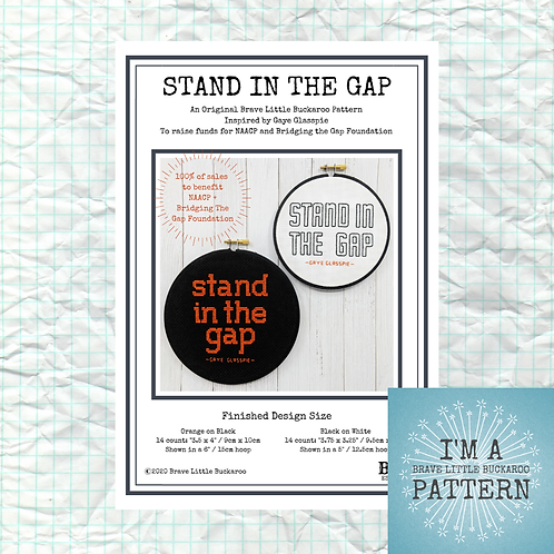 STAND IN THE GAP FUNDRAISER - DIY PDF PATTERN