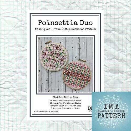 Poinsettia Duo - DIY PDF Pattern