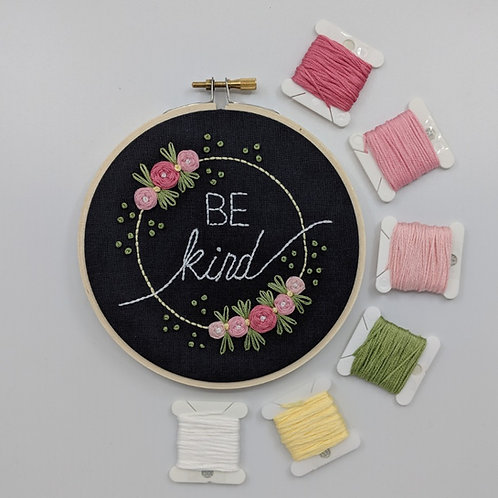 MADE TO ORDER - Be Kind - Pink on Grey