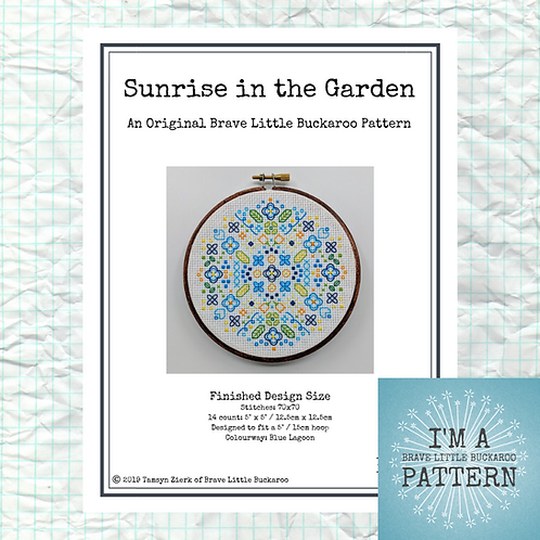 Sunrise in the Garden - Blue Lagoon Colourway - DIY Pattern