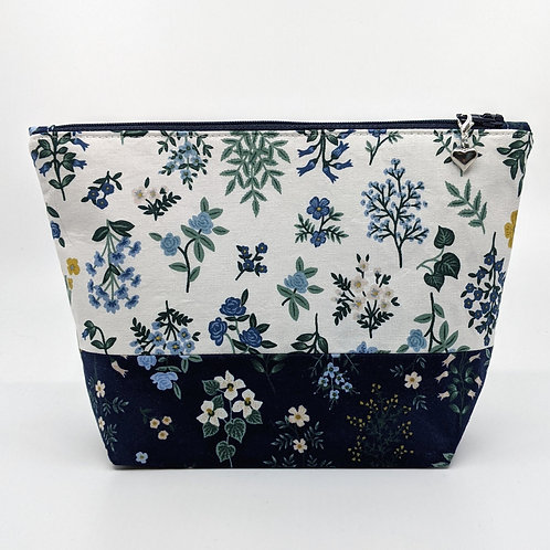 Notions Pouch - Blue and White Floral
