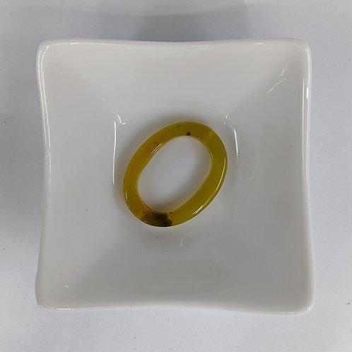 Green Agate - Donut - 35x28mm