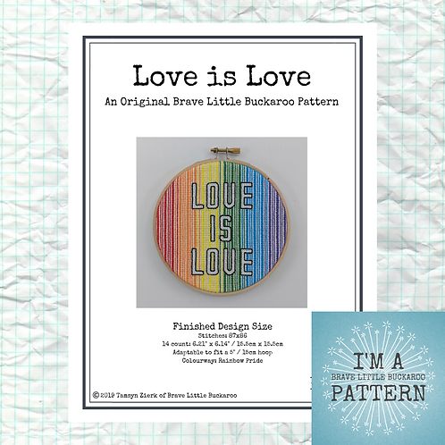 Love is Love Cross Stitch - DIY PDF Pattern