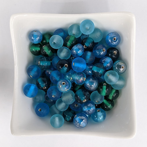 Bead Mix 08 - Blue and Green - 50g