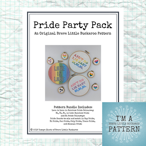 Pride Party Pack - DIY PDF Cross Stitch Pattern