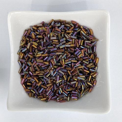Bugle Beads - Brown Iris - 4-5mm - 50g