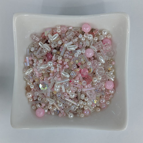 Bead Mix 17 - Pink and Pearls - 50g