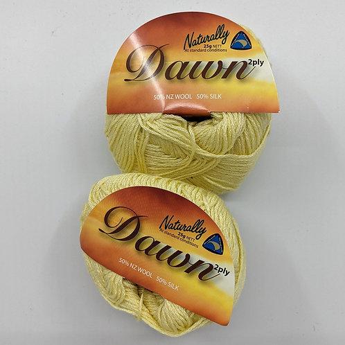 Naturally New Zealand Dawn 2 Ply - Yellow *Bulk Lot 5 Balls*