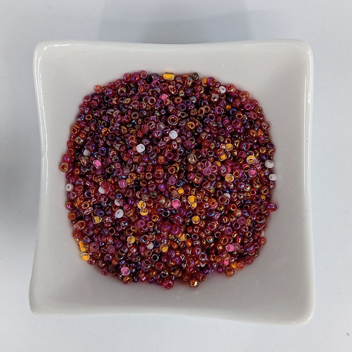 Seed Beads - Mostly #8 - Mostly Pink Lustre - 50g